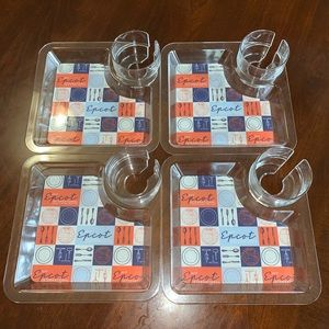 Disney EPCOT Food & Wine Appetizer Plates Trays